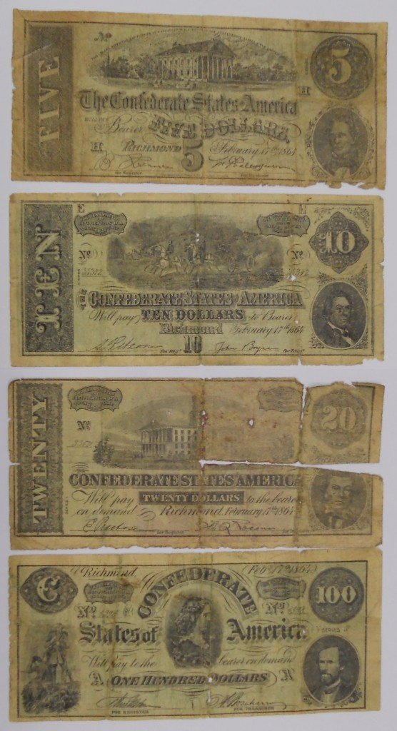 9: 1880s - 1940s Confederate Currency Advertising Notes
