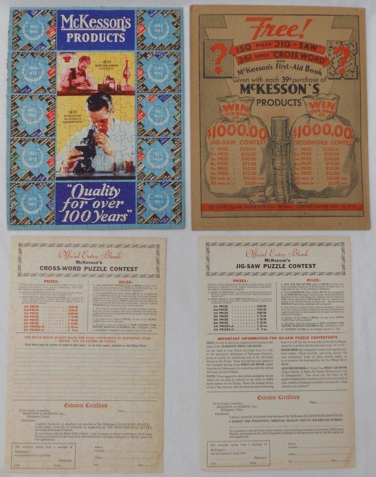 17: 1933 Advertising Jigsaw & Crossword Contest - Compl