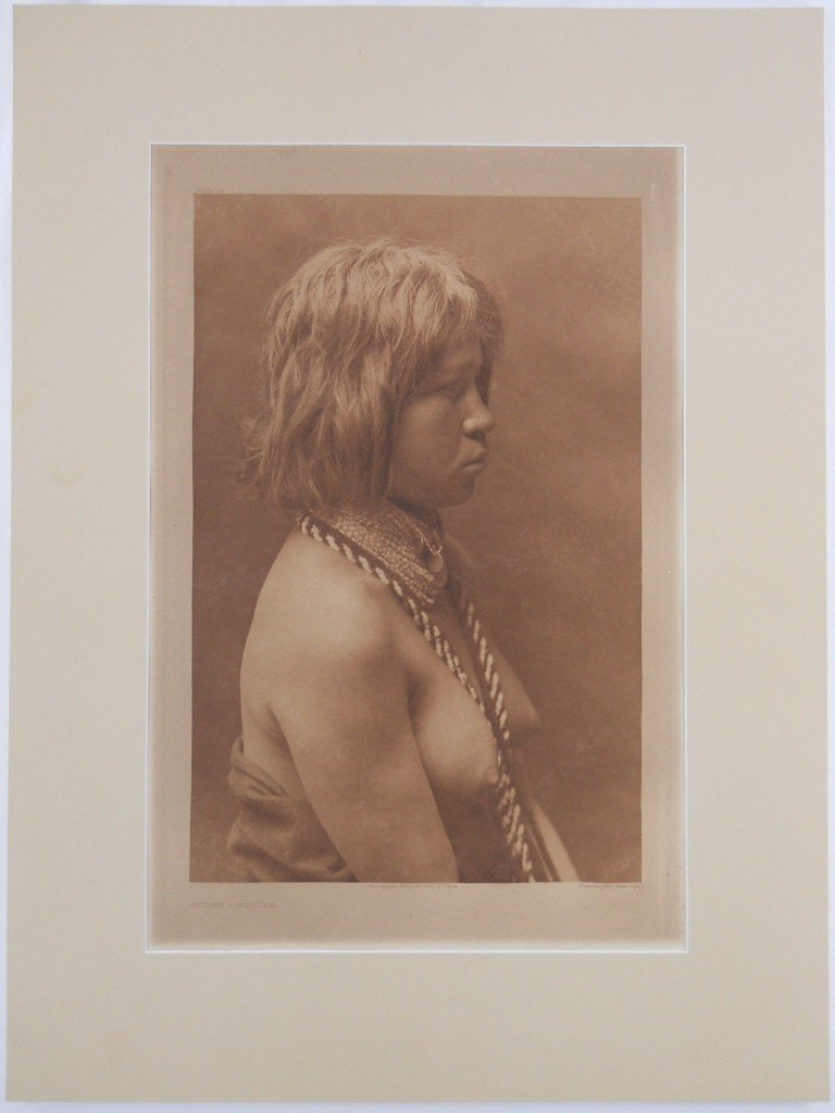 """20: Edward S. Curtis Photogravure - """"Judith - Mohave"""" 1"""