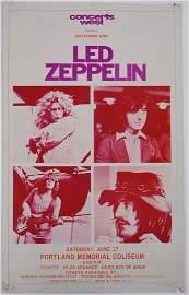 51: Led Zeppelin Concert Poster - 1972 - Portland, Oreg