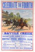 113: 1889 4th of July Stone Litho Poster