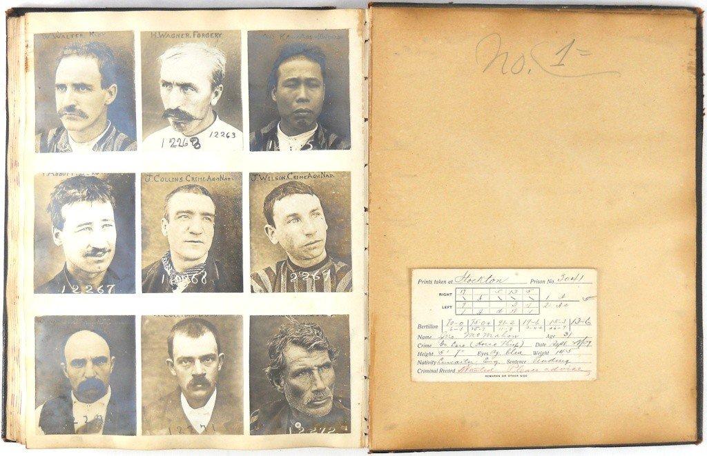 135: California Inmate Mug Book Circa 1880's