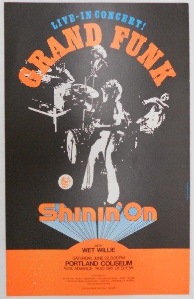11: Grand Funk Concert Poster - Portland, Oregon - 1974