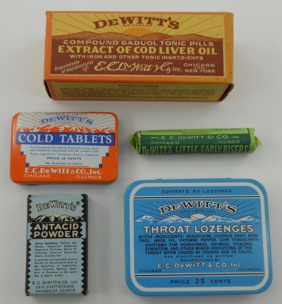 13: Five Pieces of Unopened DeWitt's Medicine