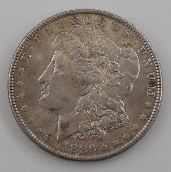 14: 1886 United States Morgan Silver Dollar