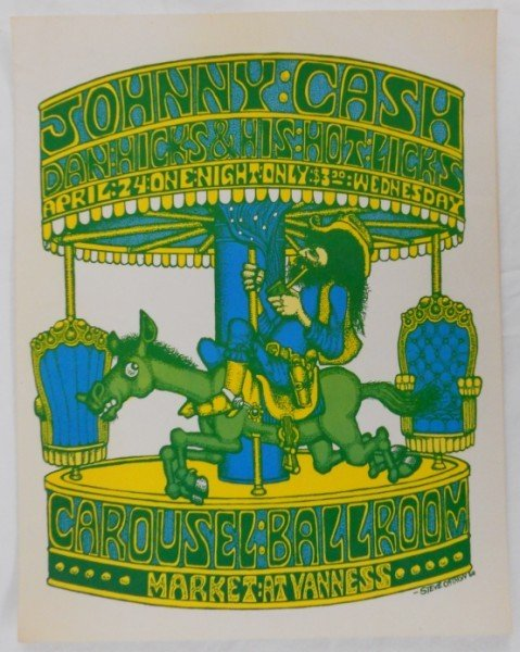 21: Johnny Cash - 1968 Carousel Ballroom Concert Poster