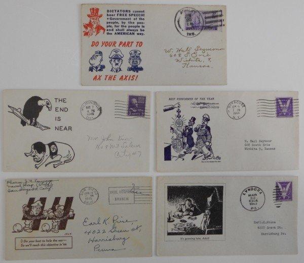 22: 5 WWII Anti-Axis Envelopes
