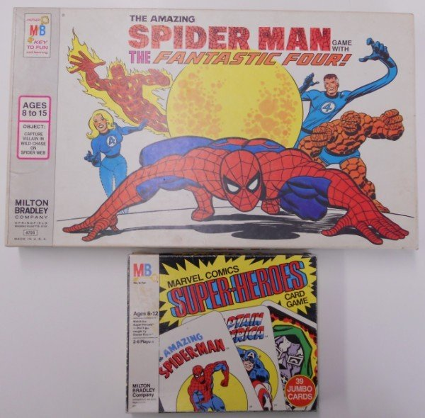 23: Two 1970s Milton Bradley Super Hero Board Games