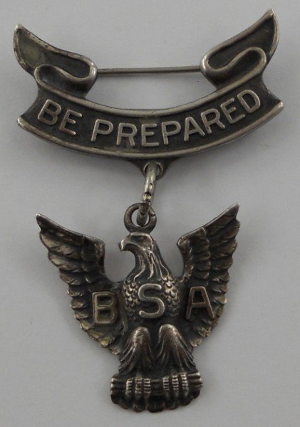 50: Vintage Sterling Silver Eagle Scout Medal