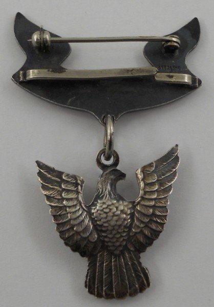 50: Vintage Sterling Silver Eagle Scout Medal - 2