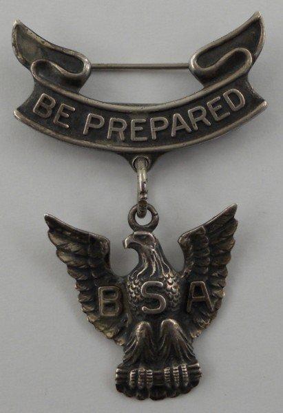 50: Vintage Sterling Silver Eagle Scout Medal - 3