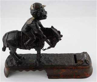 "166: 1879 ""Always Did Spise a Mule"" Cast Iron Mechanica"