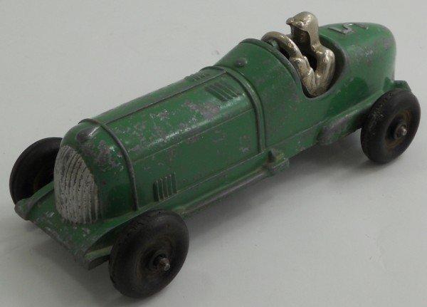 182: Hubley Kiddie Toy Die-Cast Race Car #5 1930-40s