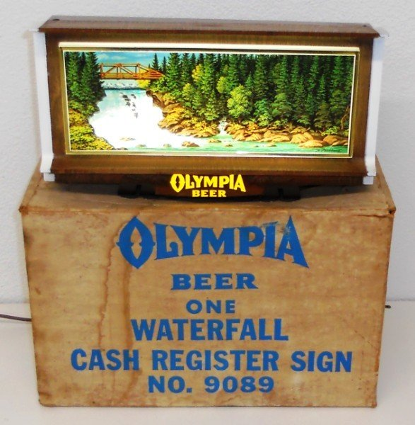 189: Olympia Beer Lighted Waterfall Motion Sign - 2
