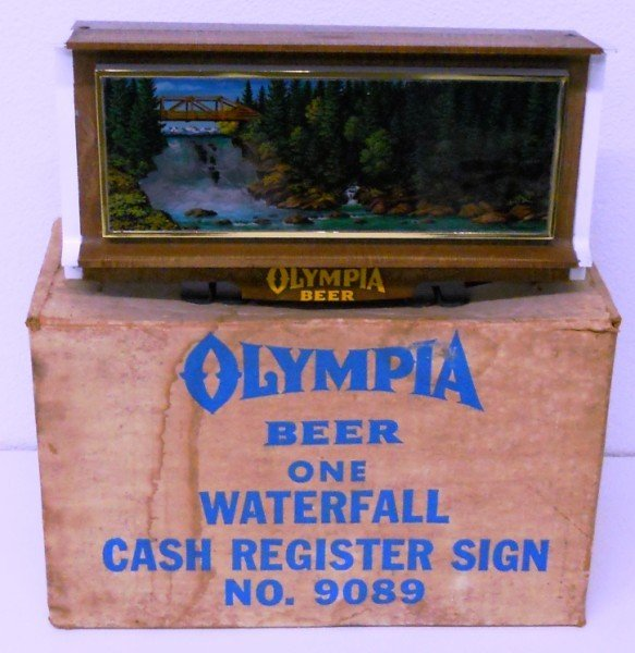 189: Olympia Beer Lighted Waterfall Motion Sign - 3