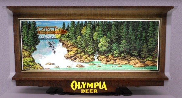 189: Olympia Beer Lighted Waterfall Motion Sign - 7