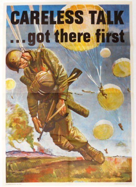 203: WWII Paratrooper Poster