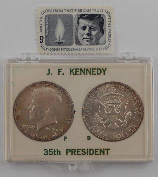 2: 1964 Kennedy Half Dollars 1 P and 1 D and a Kennedy