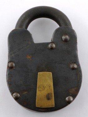 6: Large Vintage Padlock