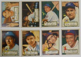 7: Lot of 8 Different 1952 Topps Baseball cards