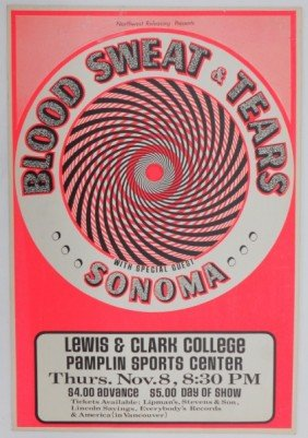 14: Blood, Sweat and Tears 1973 Concert Poster
