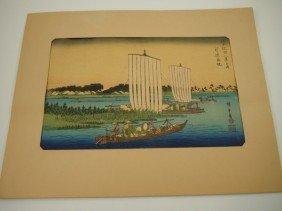 "Hiroshige And� (1797-1858) ""Return Of Fishing Boats"