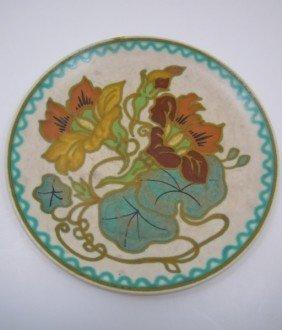 19: Vintage Art Nouveau Gouda plate