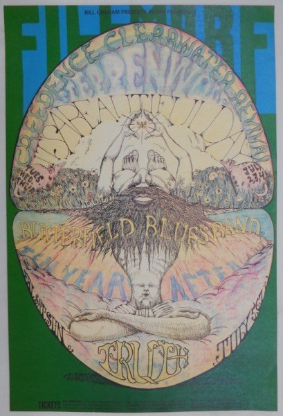 193: Creedence Clearwater Revival 1968 Poster