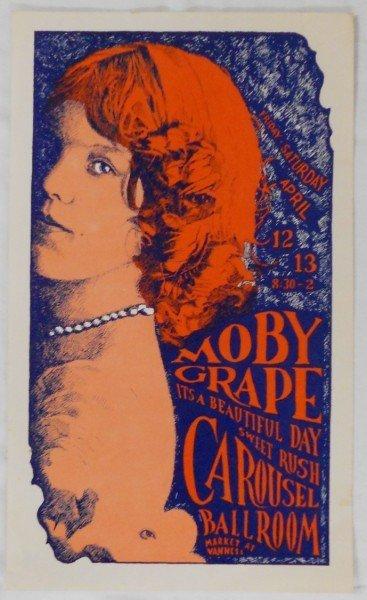4: 1968 Carousel Ballroom - Moby Grape Poster