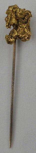 8: Genuine Gold Nugget Stick Pin - 4.6 Grams