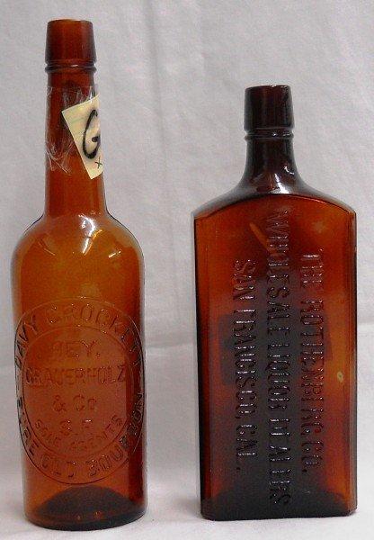 10: (2) Two San Francisco Pre-prohibition Whiskeys