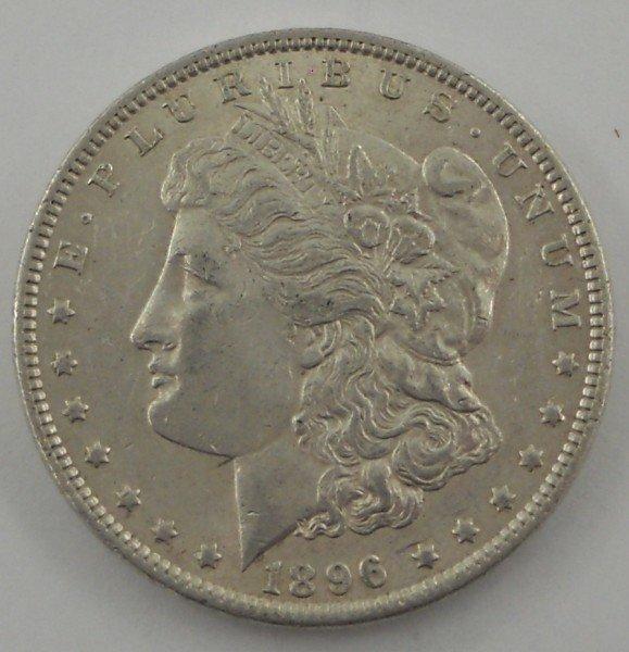 13: 1896 - P United States Morgan Silver Dollar