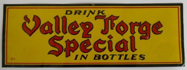 16: Valley Forge Special Embossed Tin Sign
