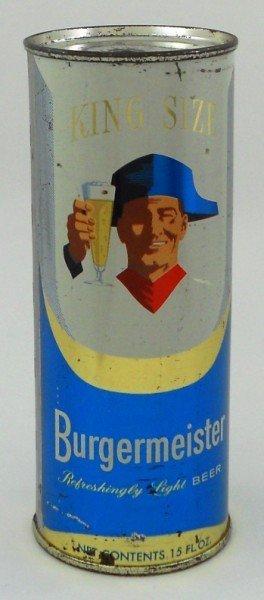 17: Burgermeister Flat Top Beer Can - 15 Ounce