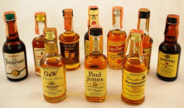 22: Vintage Mini Whiskey Bottles