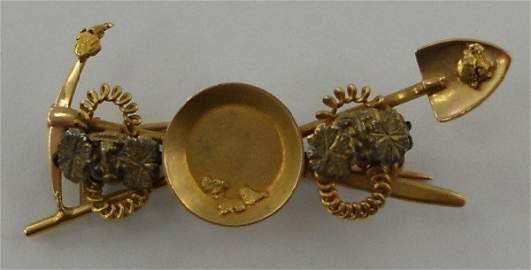 78: Gold Nugget Lapel Pin