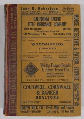 1929 San Francisco City Directory
