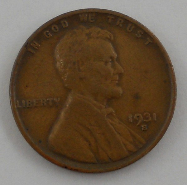123: 1931 - S United States Lincoln Cent - Key Date