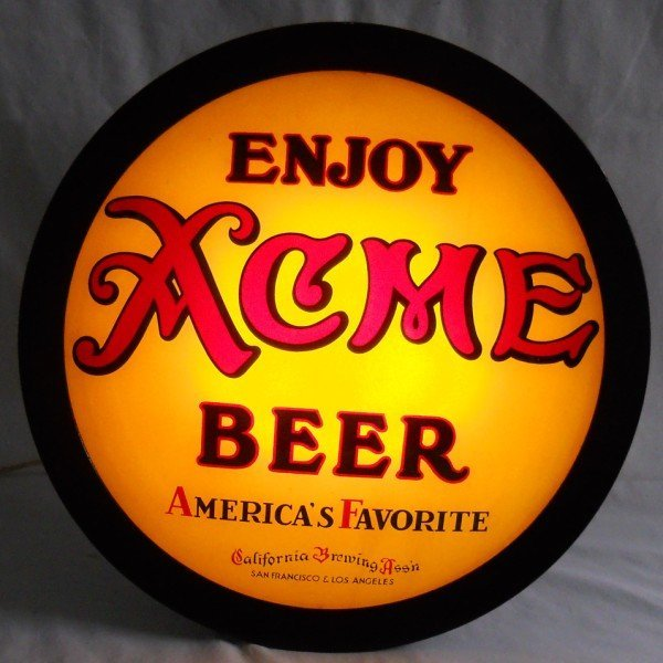 125: Acme Beer Saucer Sign 1930's