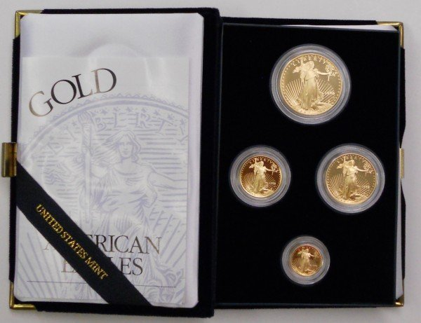 126: 1996 W American Gold Eagle 4-coin Proof Set