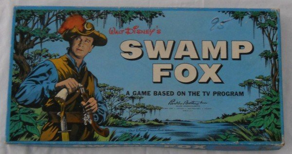 136: Walt Disney's Swamp Fox board game by Parker Broth