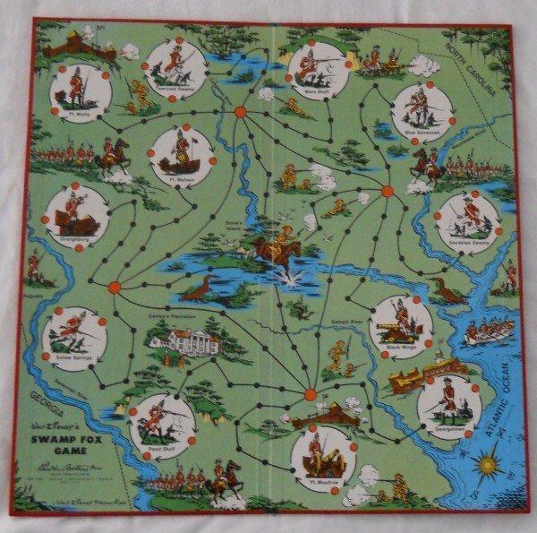 136: Walt Disney's Swamp Fox board game by Parker Broth - 2