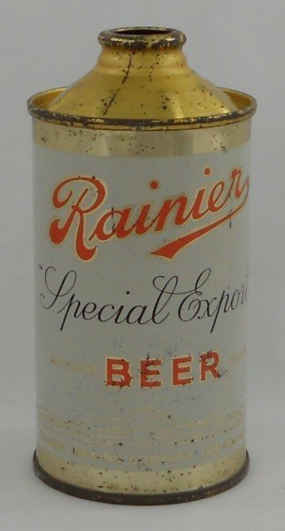 137: Rainier Special Export Cone-Top Beer Can