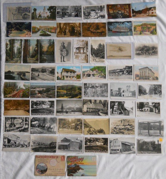 140: Fifty-two Assorted California Post Cards