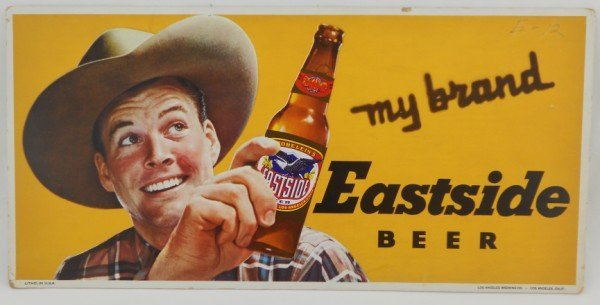 142: Eastside Beer Sign Cowboy