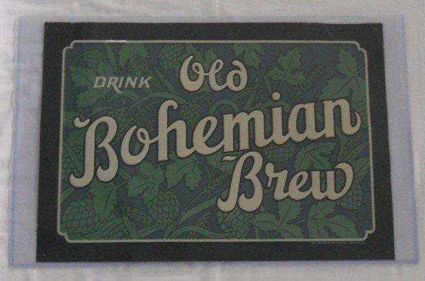 "217: ""Acme"" Old Bohemian Brew Tin Sign"