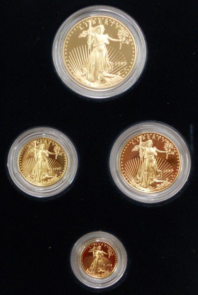 297: 1997 W American Gold Eagle 4-coin Proof Set