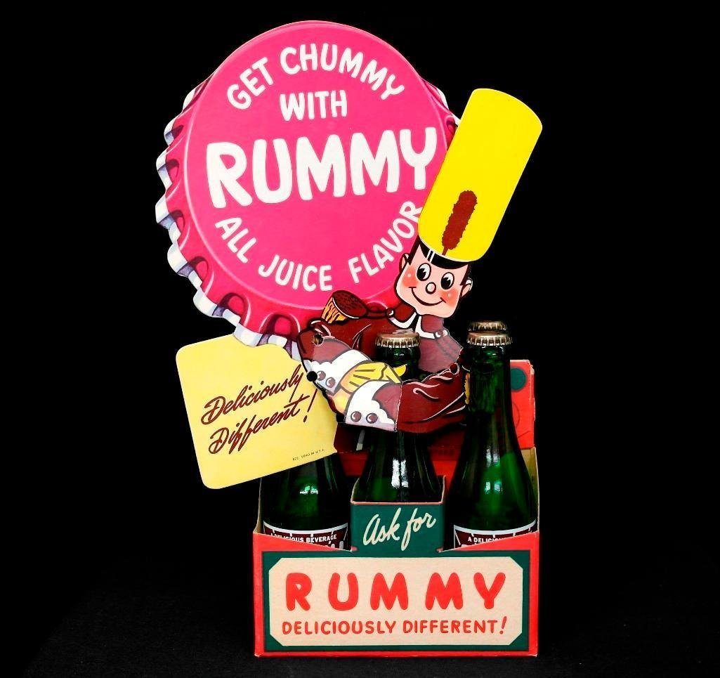 Rummy Soda Bottle Display