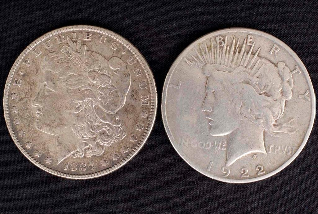 Pair of United States Silver Dollars