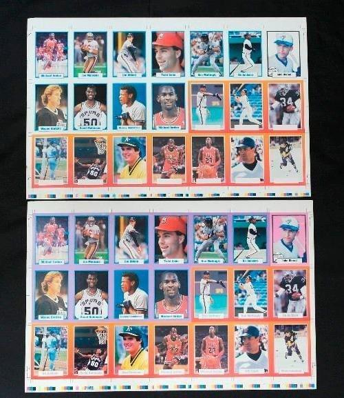 Two Uncut Sports Stars Elite Sports Card Sheets -